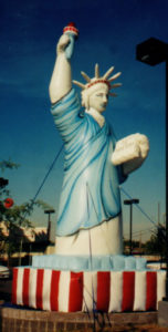 Statue of Liberty shape cold-air advertising inflatable